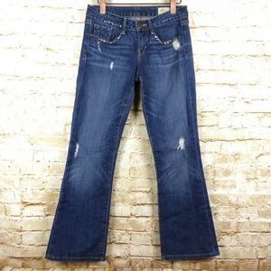 Gap Limited Studded Sexy Boot Distressed Jeans